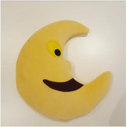 Doudou bouillotte lune jaune