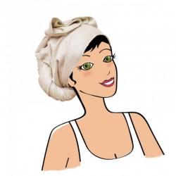 Serviette à cheveux écru - Bambou