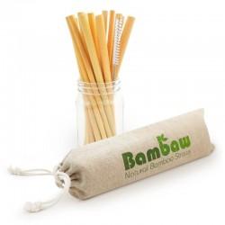 Pailles en bambou - 12 pcs