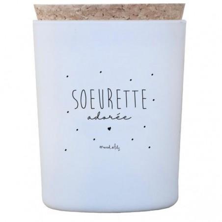 Bougie Soeurette Adorée - Miel