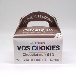 Kit préparation 12 cookies Chocolat Noir